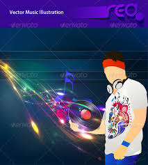 dj party vector template design dj party party poster and template