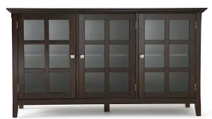 3 Door Display Cabinet Simpli Home Acadian 3 Door Accent Cabinet Reviews Wayfair