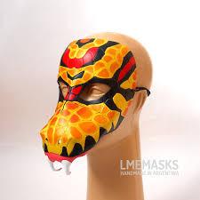 Mardi Gras Halloween Costume Snake Mask Leather Halloween Costume Serpent Viper Ader Forest