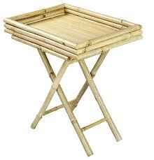 folding oversized wood tray table in espresso folding tray table tray table 5 piece folding tray table set smart