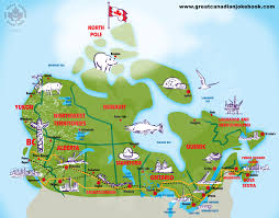Map Of Canada by Cartoon Canada Map The Great Canadian Jokebook