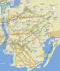 Metro Map Nyc by Brooklyn Map With Subway My Blog