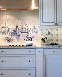 Kitchen Tile Backsplash Murals by Coastal Kitchen Backsplash Ideas With Tiles From Murals To