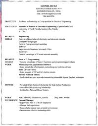 Example Resume For Internship by Download Marine Electrical Engineer Sample Resume