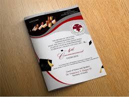 free graduation invitations graduation programs graduation program covers brochure template