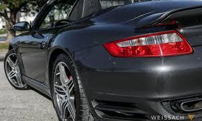 grey porsche 911 convertible 2008 porsche 911 turbo cabriolet weissach
