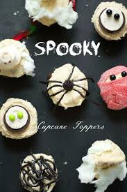 halloween toppers spooky halloween cupcake toppers runway chef