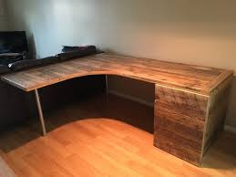 Curved L Shaped Desk L Shaped Curved Desk With Drawers Pinteres