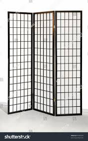 tri fold room divider traditional japanese style tri fold wooden stock photo 59305585