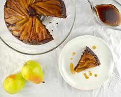 molasses ginger pear upside down cake good health gourmet
