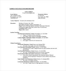 Student Teaching Resume Examples by Sample Teaching Cv Template 8 Download Free Documents In Pdf Word