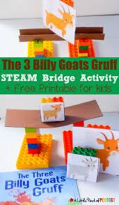 the three billy goats gruff steam bridge building activity for kids