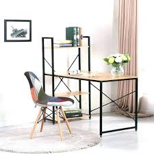 bureau design industriel table bureau style design industriel en metal et bois caruso