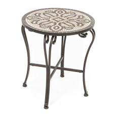 Outdoor Accent Table Nice Mosaic Accent Table Furniture 33 Tiled Mosaic Half Moon