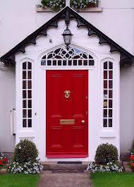 red polished teak wood single door panel with gold metal door