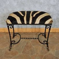 african zebra hide vanity bench for sale 15108 the taxidermy store