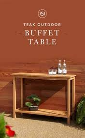 amish poly wood outdoor buffet table outdoor furniture