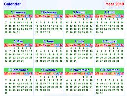 Gambar Kalender 2018 Lengkap Kalender2018 Horizontal Und Vertikal