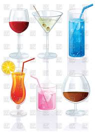 alcoholic drinks clipart set of cocktails and drinks vector clipart image 58766 u2013 rfclipart