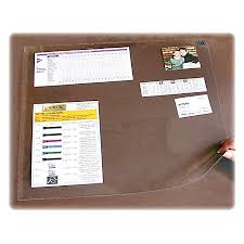 clear plastic desk protector office depot artistic second sight clear desk protectors rectangle 36 width