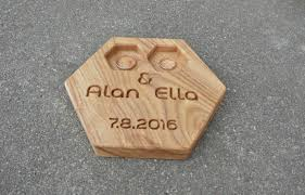 Wedding Ring Holder by 37 00 Usd Personalized Modern Wood Ring Box Hexagon Wedding Ring