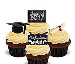 graduation cake toppers graduation congratulations class of 2017 edible cupcake toppers