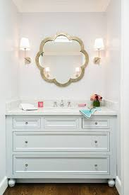outstanding bathroom mirror ideas with storage flower shape mirror