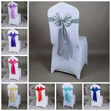 wholesale chair sashes silver colour chair sash butterfly style wedding chair