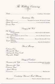 Example Of Wedding Program Free Wedding Program Wording Samples Wedding Invitation Sample
