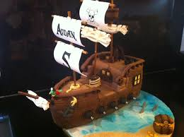 pirate ship cake pirate ship cake for my sons 5th birthday sails are made out of