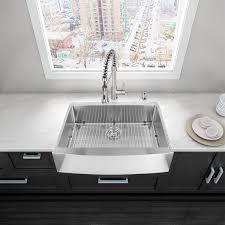 Single Basin Kitchen Sinks by Vigo Vgr3320c 33 Farmhouse 16 Gauge Single Bowl Kitchen Sink In