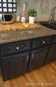 Ugly Kitchen Cabinets How To Paint Kitchen Cabinets At Home With The Barkers