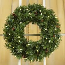 crimson harvest battery operated led wreath