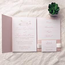 wedding invitation kits pink wedding invitation kits bohemian flower pocket wedding