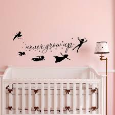 peter pan wall decal quote never grow up children flying details peter pan wall decal