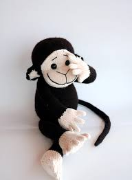 Monkey Rug For Nursery Monkey Pdf Knitting Pattern Cute Kids Gift Pattern Nursery