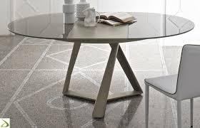 tavoli design cristallo tavolo design rotondo millennium di bontempi arredo design