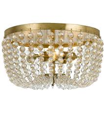 gold flush mount light crystorama 600 ga rylee 3 light 13 inch antique gold flush mount