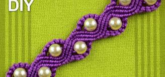 macrame bracelet with beads images How to make a snake or a wave macrame bracelet with beads jpg