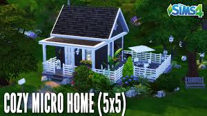 the sims 4 speed build 69 cozy micro home 5x5 youtube