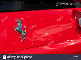 ferrari horse logo ferrari badge horse logo on the back of a f355 gts stock photo