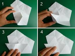 folding 5 pointed origami ornaments