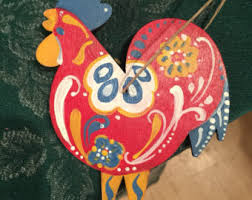 rooster ornament etsy