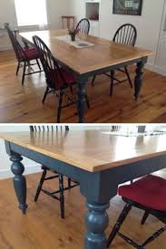 Farmhouse Dining Room Table by Mission Style Table Makeover Refinished Furniture Pinterest