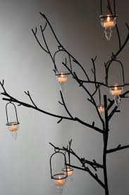 black metal display candle tree event decor 53in