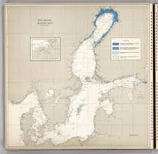 Baltic Sea Map Ice Chart Baltic Sea December David Rumsey Historical Map