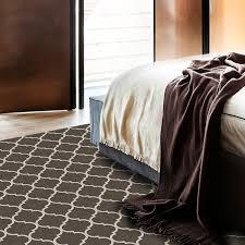 washable rug nonslip pad trellis gate grey white 5 u0027 x 7