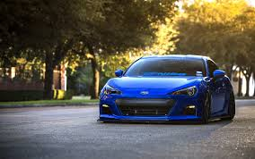 subaru impreza modified blue wallpaper subaru brz blue front sports car coupe hd picture