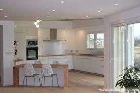 cuisine moderne bois clair beautiful cuisine blanche et bois photos design trends 2017