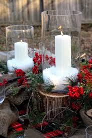Rustic Christmas Centerpieces - christmas table setting ideas town u0026 country living